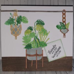 Pot plant handmade friendship card