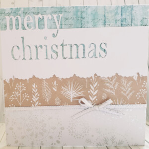 Soft coloured layered christmas card
