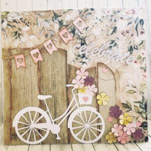 Celebrate vintage handmade card