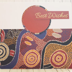 aboriginal design greeting card