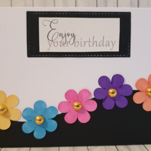 Daisy birthday greeting card