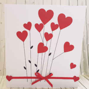 Hearts valentines day greeting card