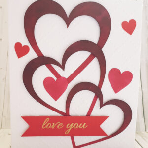 Big hearts valentines day greeting card
