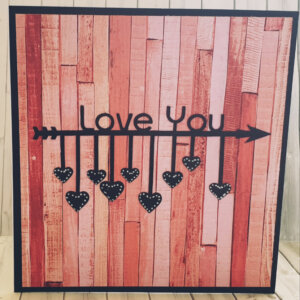 Valentines Day greeting card with arrows