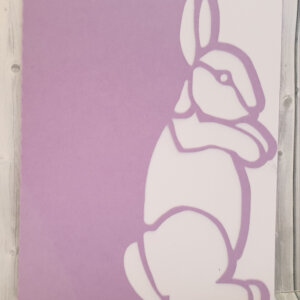 East bunny greeting card