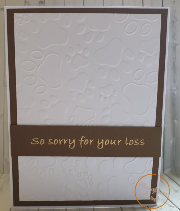 Pet- sorry for your loss greeting card