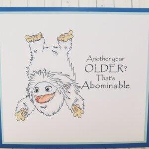 Abominable birthday card