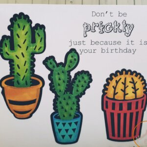 prickly birthday card