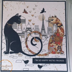 Cat Birthday Napkin card